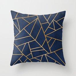 Art Deco Blue Throw Pillow