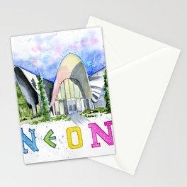 Neon Boneyard Las Vegas Stationery Cards