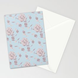 Rustic Watercolor Rose Stationery Cards