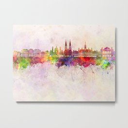Vienna V2 skyline in watercolor background Metal Print