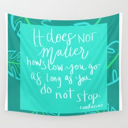 Do Not Stop Inspirational Green Plant Motivational Quote Wall Tapestry