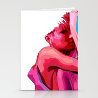 women Stationery Cards featuring women by veronica ∨∧