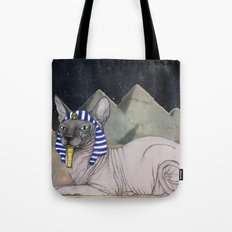 Sphynx Cat (space bg) Tote Bag