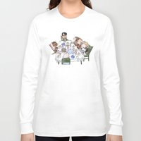 thanksgiving Long Sleeve T-shirts featuring A Max Fischer Thanksgiving by JessLane