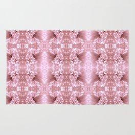 Pastel Old Rose Flower Pattern Rug