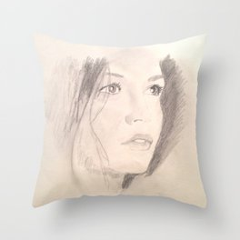 Catherine Zeta-Jones Throw Pillow