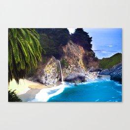 Tropical California Coast Beach Paradise Canvas Print