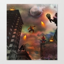 Super Hero Showdown Canvas Print