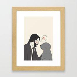 Be nice to animals Framed Art Print