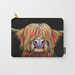 Scottish Highland Cow ' CHARMER ' by Shirley MacArthur Carry-All Pouch