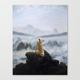 The Wanderer Above the Sea of Doge Canvas Print