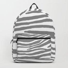 Gray Zebra Stripes Pattern Backpack