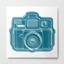 I Still Shoot Film Camera Logo Metal Print