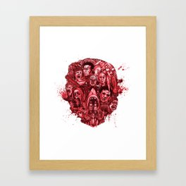 The Essence of Horror [Red] Framed Art Print