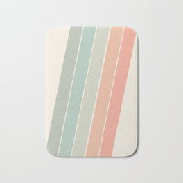 Trippin' - retro 70s socal minimal striped abstract art california surfing vintage Bath Mat