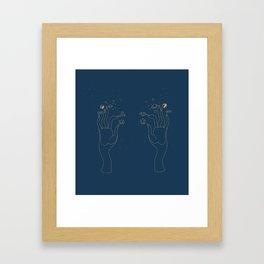 Hand Elements Framed Art Print