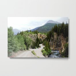 Following the Ore Bucket Tramway from the Mayflower Mill to the Mayflower Mine Metal Print