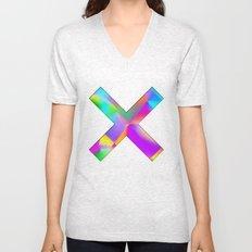 Expressionist Cubes Unisex V-Neck