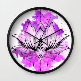 Mother Lotus Wall Clock