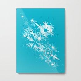 Snow Flakes of Hope Metal Print