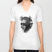 karl V-neck T-shirts featuring karl by DIVIDUS DESIGN STUDIO