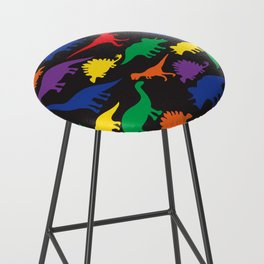 Dinosaurs - Black Bar Stool