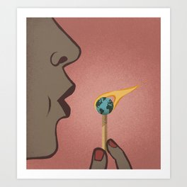 Fighting Global Warming Art Print