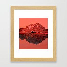 Living The Living Coral Framed Art Print