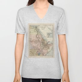The Nile River Valley Map (1910) Unisex V-Neck