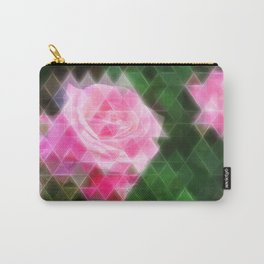 Pink Roses in Anzures 1 Art Triangles 2 Carry-All Pouch