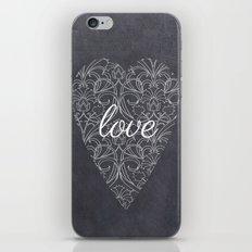Love Heart Design {Black Version} iPhone & iPod Skin