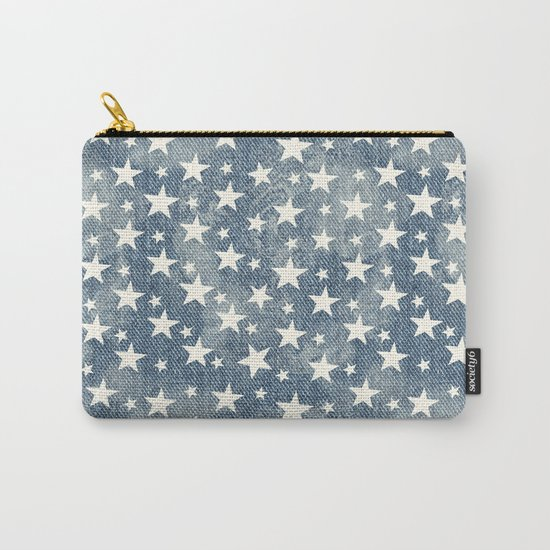 Stars with denim effect Carry-All Pouch