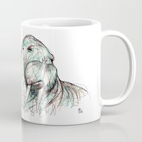 walrus Mugs featuring Walrus by Ursula Rodgers