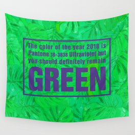 Green and Ultra Violet Wall Tapestry