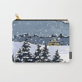 Winter Montains Carry-All Pouch