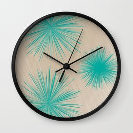 Abstract fireworks Wall Clock