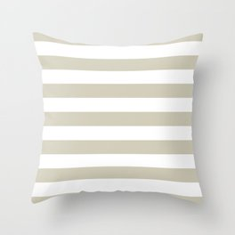 Beach Sand and White Stripes Throw Pillow