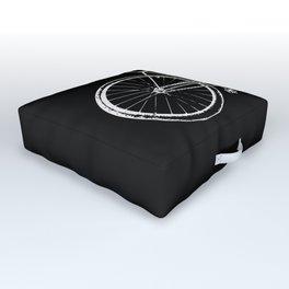 Bike on black Outdoor Floor Cushion