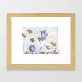 Mittens for You and Mittens for Me Framed Art Print
