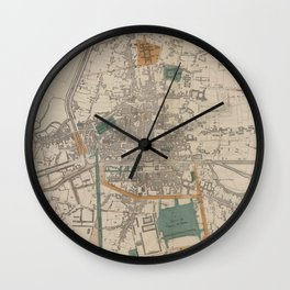 Vintage Map of Rennes France (1861) Wall Clock
