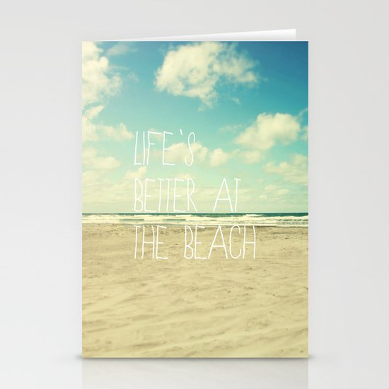life's better at the beach Stationery Cards