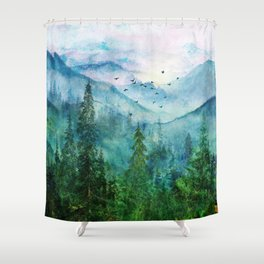 Spring Mountainscape Shower Curtain