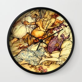 Attack of monsters Wall Clock