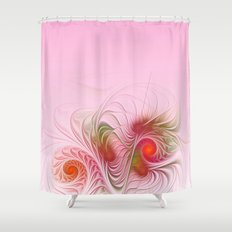 a dream in pink and red Shower Curtain