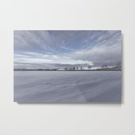 Landscape in the snow Metal Print