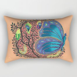 Metamorphosis - the journey may be bitter, but the endings are beautiful Rectangular Pillow