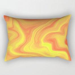 Orange Yellow Rectangular Pillow
