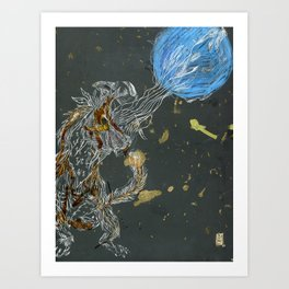 Haole and the Moon Art Print