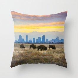 City Buffalo Throw Pillow