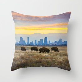 City Buffalo Throw Pillow